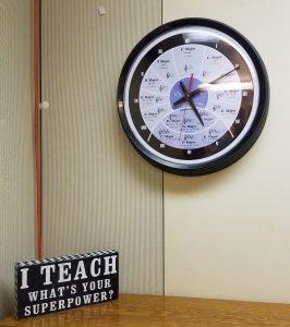 clock and i teach